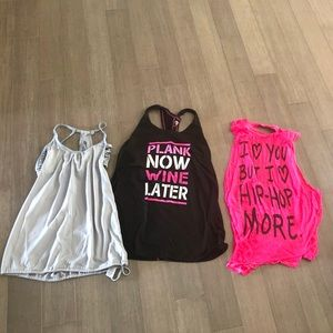 Tops - Lot of three size small workout tanks